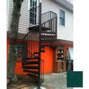 "Spiral Staircase Kit - The Iron Shop, Beach, CODE Alum/Dmd Plt, 6'0"", 13 Riser, Verdigris"