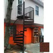 "Spiral Staircase Kit - The Iron Shop, Beach, CODE Alum/Dmd Plt, 6'0"", 13 Riser, Rust"