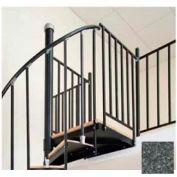 "Spiral Staircase Kit - The Iron Shop, Beach, Aluminum Tube Balcony Rail, 6'0"", Weathered Iron"