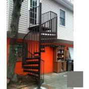 "Spiral Staircase Kit - The Iron Shop, Beach, CODE Alum/Dmd Plt, 6'0"", Add'l Riser, Gloss Stainless"