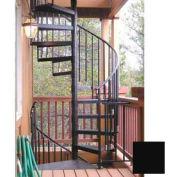 "Spiral Staircase Kit - The Iron Shop, Everyday, Standard Steel/Dmd Plt, 3'6"", 12 Riser, Black"