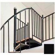 "The Iron Shop, Steel Tube Balcony Rail, 3'6"", Black"