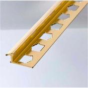 "M-D Tile Cap 07559, 96""L, Bright Dipped Brass"