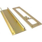 "M-D Mail Slot 28795, Aluminum, Flap & Back Plate, 13""W, Brite Brass"