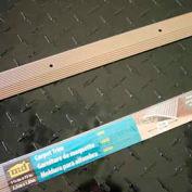 "M-D Carpet Trim Wide, Fluted, 43856, 72""L, Pewter, Screw Nails"