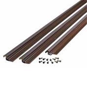 """M-D Compression Weatherstrip W/Aluminum Stop, 44804, Bronze, 36"""" x 84"""""""