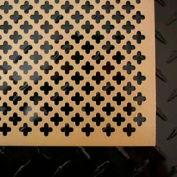 "M-D Aluminum Sheet, Cloverleaf, 56018, 24""L X 12""W X 0.2""H, Black"