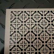 """M-D Aluminum Sheet, Mosaic, 57005, 24""""L X 12""""W X 0.02""""H, Satin Nickel"""