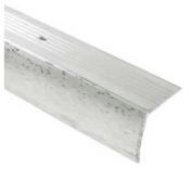 "M-D Stair Edging, 78345, 96""L, Silver"