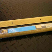 """M-D Stair Edging, Fluted, 79020, 36""""L, Satin Brass, Screw Nails"""
