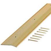 "M-D Carpet Trim Fluted, 79087, 72""L, Satin Brass, Screw Nails"