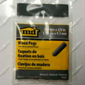 "M-D Wooden Pegs For Concrete Floors 95661, 1-1/4"" X 3/8"" Dia., Unfinished"