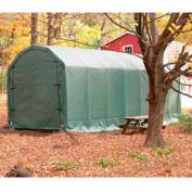 Green 12'W x 28'L x 12'H Barn Style Portable Building