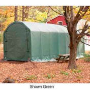 Gray 12'W x 28'L x 12'H Barn Style Portable Building