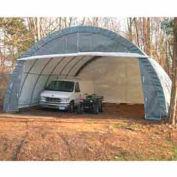 Gray 30'W x 30'L x 15'H 3 Car Round Building