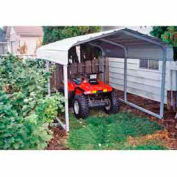 Gray 7'W x 10'L x 6'H Steel Carport