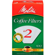 Melitta 62271 - Coffee Filters, White, #2 Cone, 1200 Filters/Case