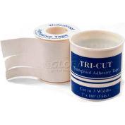 """Adhesive Tape, Tri-Cut, 3/8"""", 5/8"""", 1"""" W x 5 yds, 1/Roll - Pkg Qty 2"""