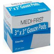 "Gauze Pads - Sterile, 3"" x 3"" Pad, 25/Box"
