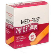 "Flexible Bandage, Extra Heavy Weight, 7/8"" x 3"" Strip, 50/Box - Pkg Qty 2"