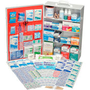 Global Industrial First Aid Kit - 4 Shelf Steel Cabinet, ANSI Compliant, 100-150 Person