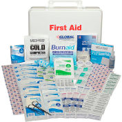 Global Industrial First Aid Kit - 50 Person, ANSI Compliant, Plastic Case