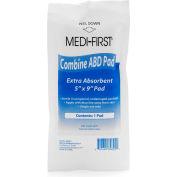 "Medi-First® Sterile ABD Pads, 5""x 9"", 89801 - Pkg Qty 5"
