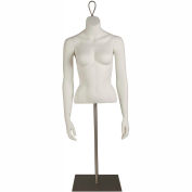 CLBF-A Clip in Female Torso, Headless, Arms at Side -White