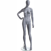 UBF-3 Female Mannequin - Oval Head, Right Hand on Hip, Legs Slightly Bent -Natural