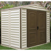 "Woodside Premier Vinyl Outdoor Storage Shed 30211, 10'5""W X 8'D, Includes Foundation"