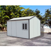 DuraMax Gable Roof Vinyl Storage Shed 30532 13-1/2'W x 10-9/16'D x 8-11/16'H, Includes Foundation