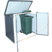 DuraMax Trash Bin Galvanized Steel Storage Shed Car Shelter 74051 5-1/16'W x 3-1/8'D x 4-5/16'H
