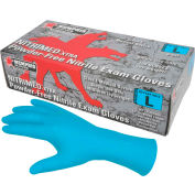 "MCR Safety 6012 Nitri-Med Nitrile Medical/Exam Textured Gloves, Powder-Free, Blue, 12""L, M, 100/Box"