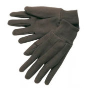 Cotton Jersey Gloves, Clute Pattern with Knit Wrist, Memphis Gloves 7102, Ladies, 12 Pairs