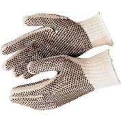 PVC Dot String Knit Gloves, MEMPHIS GLOVE 9660LM, 12-Pair