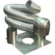 """Metal-Fab, Inc. MLKE5535 Aluminum Economy Liner Kit, 5-1/2""""Dia x 35'L, UL Standard 1777"""