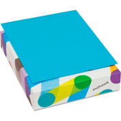 """Colored Paper - Mohawk 472208 - 8-1/2"""" x 11"""" - Blue - 500 Sheets/Ream"""