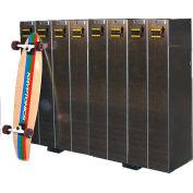 Single-Sided Longboard Lockers, Holds 8 Longboards/Scooters