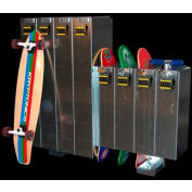 Longboard And Standard Skateboard Locker Option, 2 Longboard Or Standard Skateboards/Scooters - 4 Pk - Pkg Qty 4