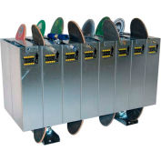 Double-Sided Skateboard Lockers, Holds 16 Skateboards/Scooters