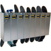 Single-Sided Skateboard Lockers, Holds 8 Skateboards/Scooters
