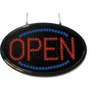 "Mystiglo Oval Open/Close LED Dot Sign - 24""W x 14""H"