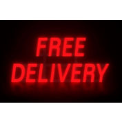 """Mystiglo Free Delivery LED Sign - 28-1/2""""W x 14""""H"""