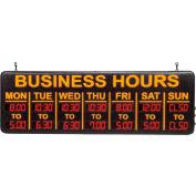 "Mystiglo Digital Business Hours LED Sign - 24""W x 8""H"