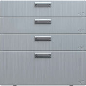 "Hercke Stainless Steel Quadro Storage Drawer QSD302430-S72 - 30"" x 24"" x 30"" Satin Black"