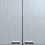 "Hercke Stainless Steel Wall Mount Storage Cabinet USC302430-S72 - 30"" x 24"" x 30"" Satin Black"