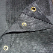 Xtarps, MN-MS70-B0612, 70% Shade Cloth, Shade Tarp, 6'W x 12'L, Black