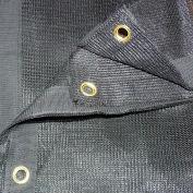Xtarps, MN-MS70-B0616, 70% Shade Cloth, Shade Tarp, 6'W x 16'L, Black