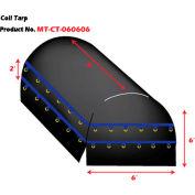 Xtarps, MT-CT18-B060606, Heavy Duty Flatbed Truck Tarp, Coil Tarp, 6'  x 6' x 6', Black