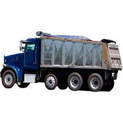 Xtarps, MT-DT-071400, Dump Truck Tarp, Heavy Duty, Industrial Grade, 7'W x 14'L, Black